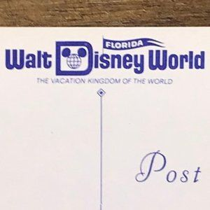 Vintage Wall Art - Vintage Walt Disney World FL Souvenir Postcard